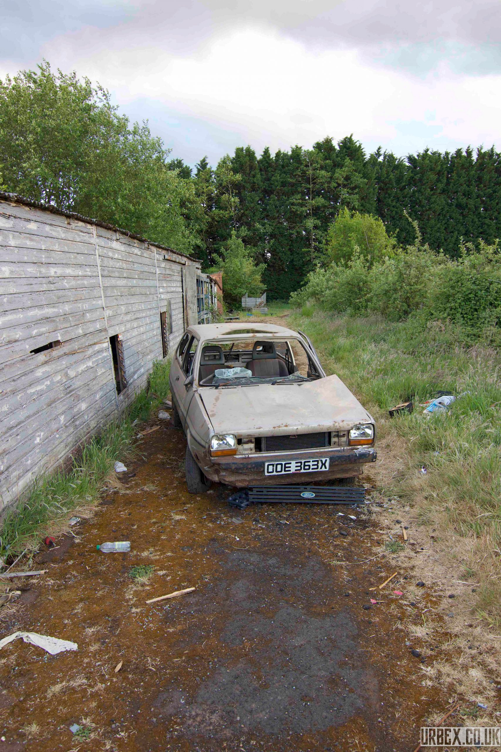 Abandoned Ford Fiesta